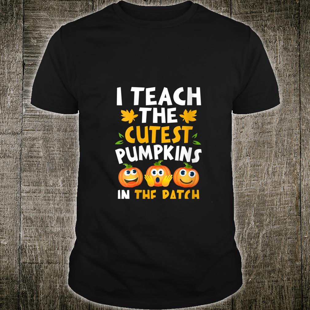 Halloween Shirt PreK Teacher I Teach Cutest Pumpkins Shirt