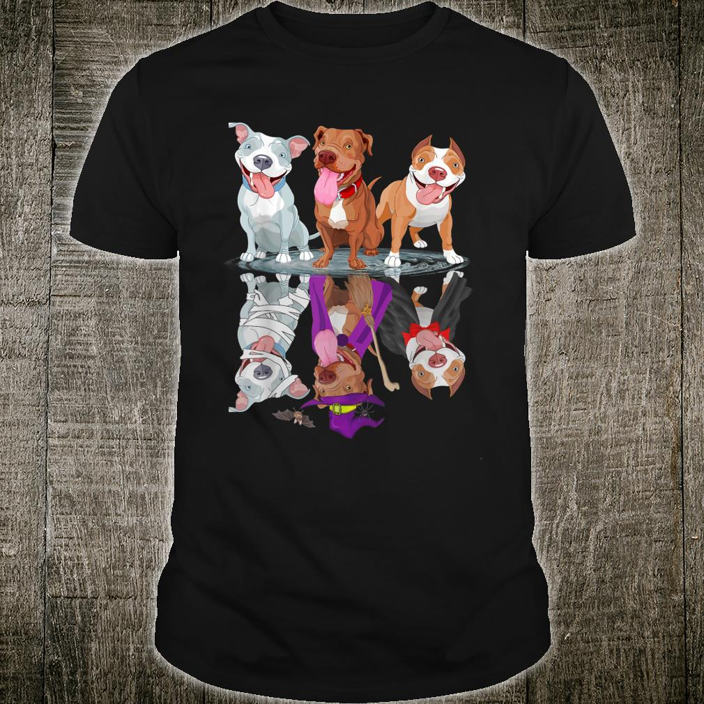 Happy Halloween Mummy Witch Pitbull Dog Shirt