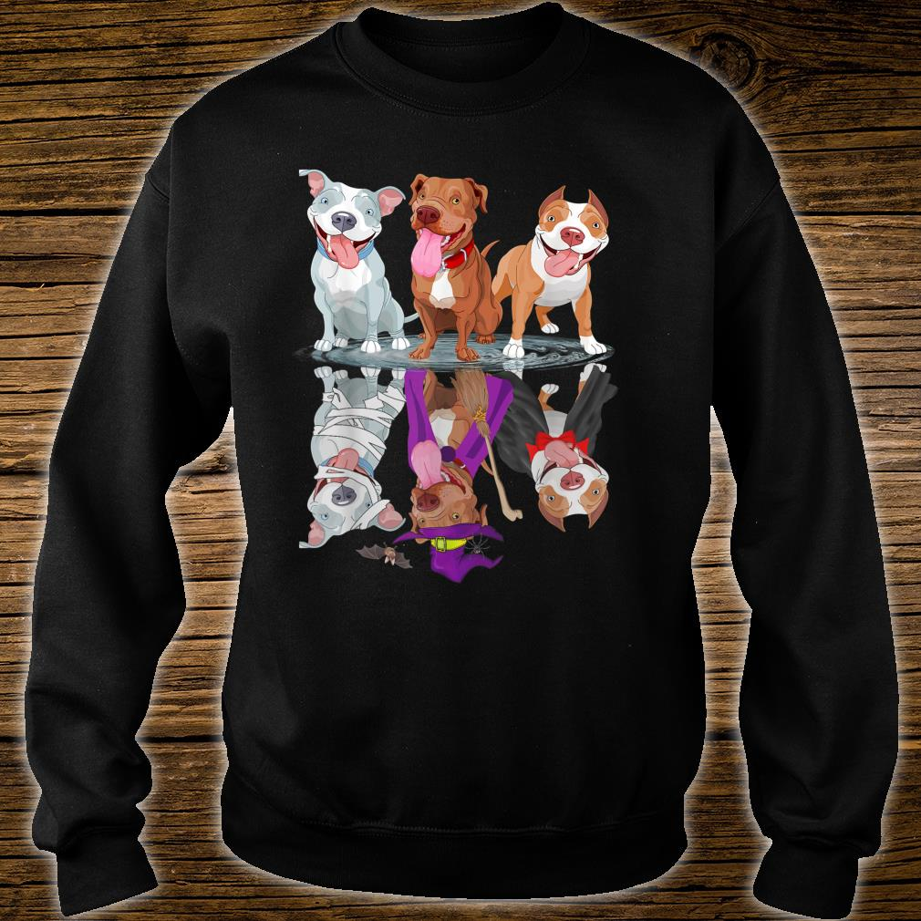Happy Halloween Mummy Witch Pitbull Dog Shirt sweater
