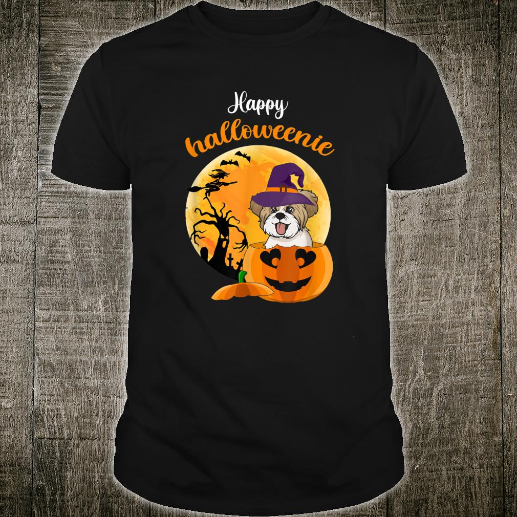 Happy Halloweenie Pumpkin Yorkshire Dog Witch Cute Shirt