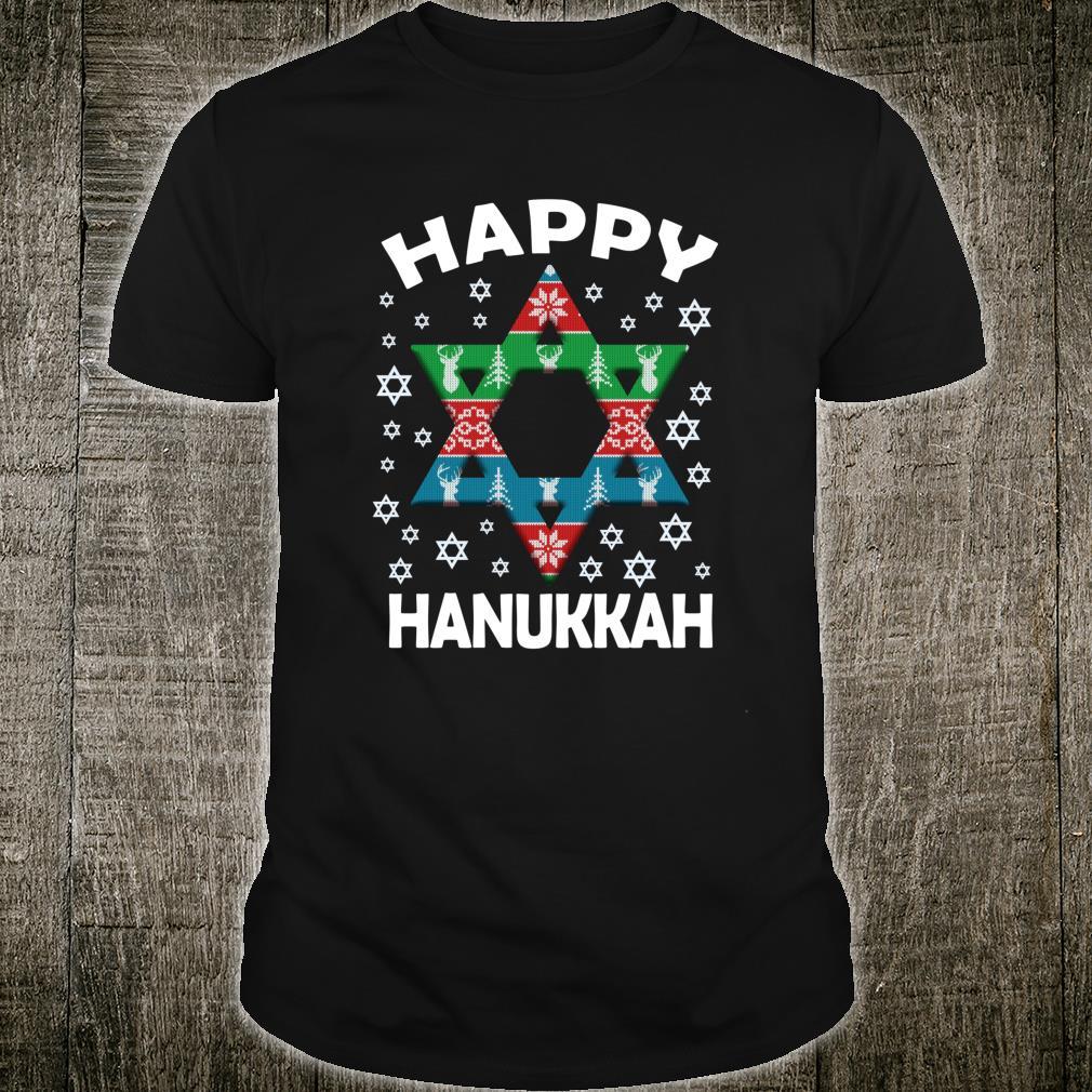 Happy Hanukkah Star Of David Ornament Jewish Holiday Chanuka Shirt