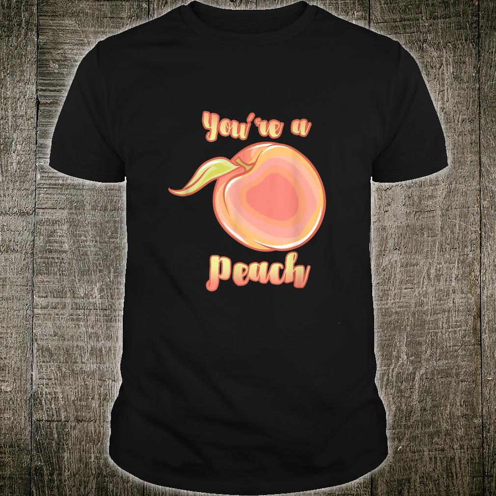 Healthy You're a Peach Cute Vegan Market Shirt