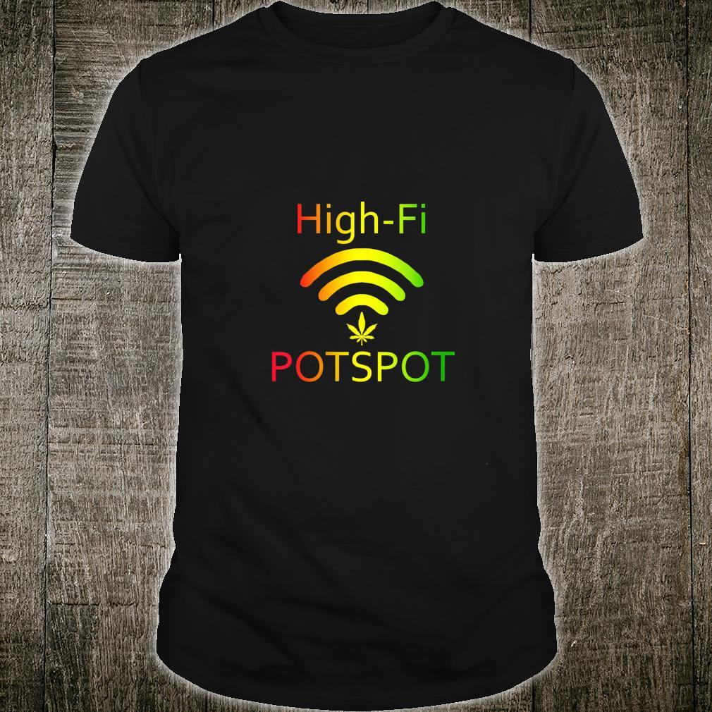 HighFi Potspot Weed Signal Stoner 420 Pot Shirt