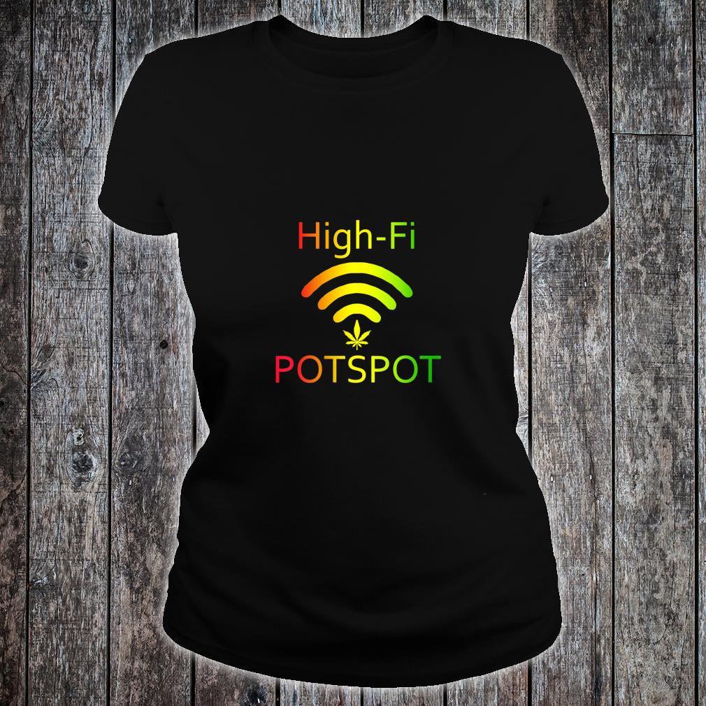 HighFi Potspot Weed Signal Stoner 420 Pot Shirt ladies tee