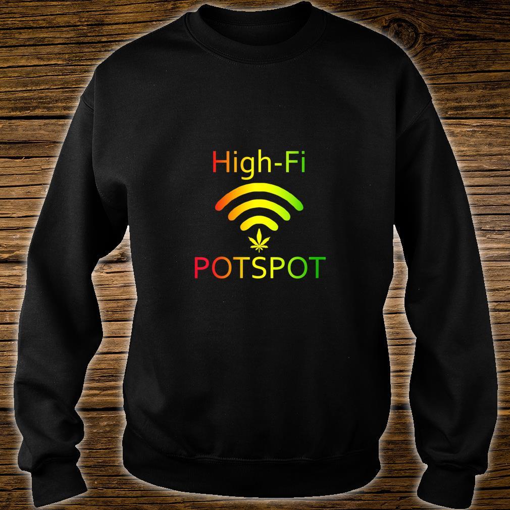 HighFi Potspot Weed Signal Stoner 420 Pot Shirt sweater