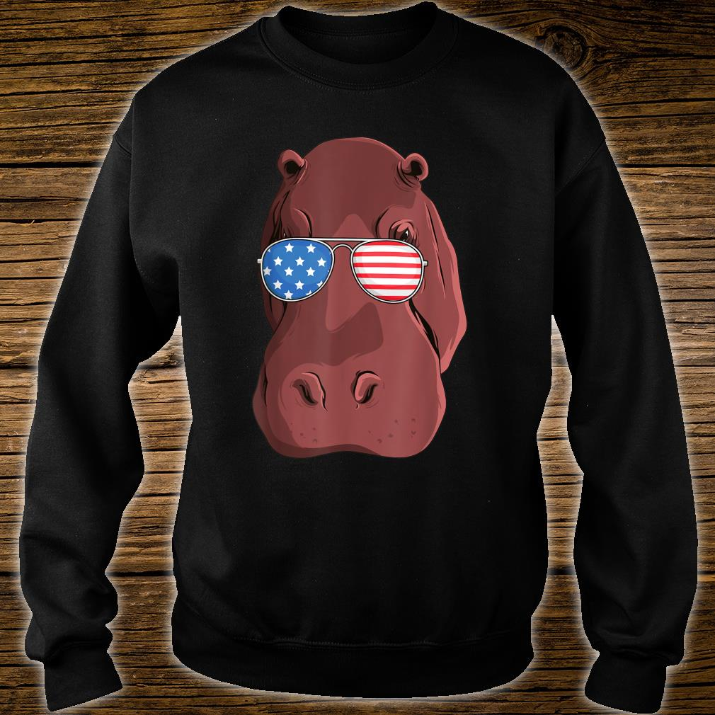 Hippo 4th of July American USA Patriotic Shirt sweater