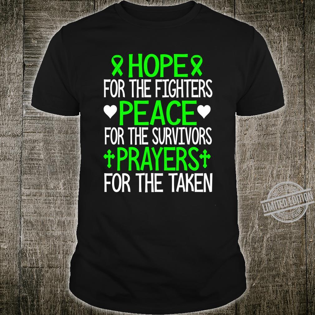 Hope peace prayerstal health awareness support Shirt
