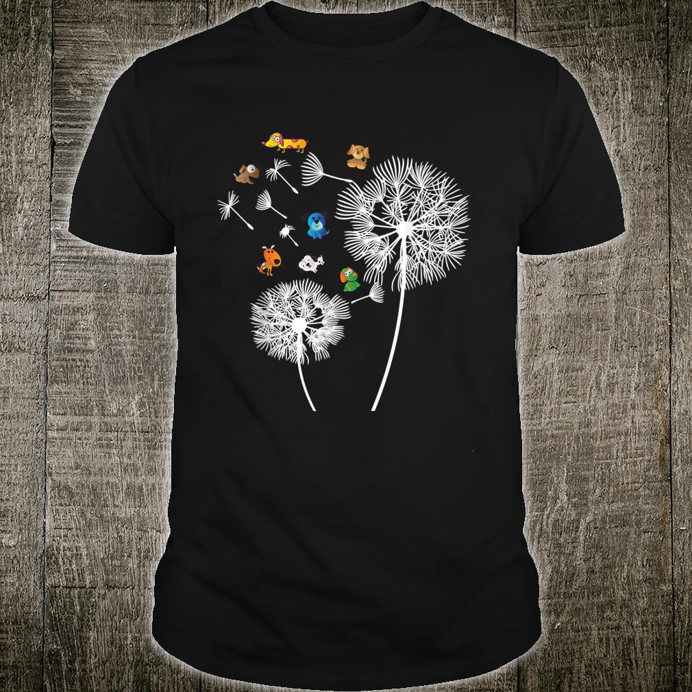 Hund Pusteblume lustige Hunde Blumenmotiv Frauchen Geschenk Shirt