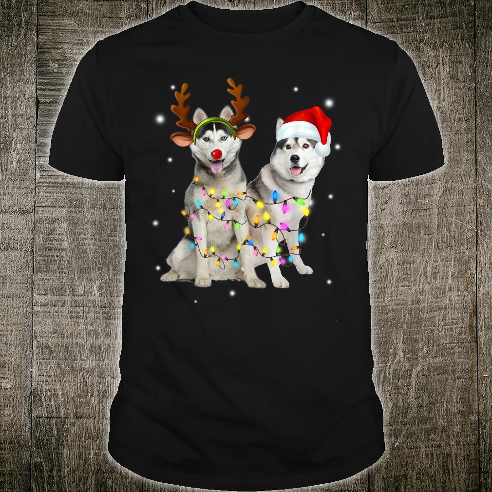 Husky Gift Christmas Reindeer Dog Shirt