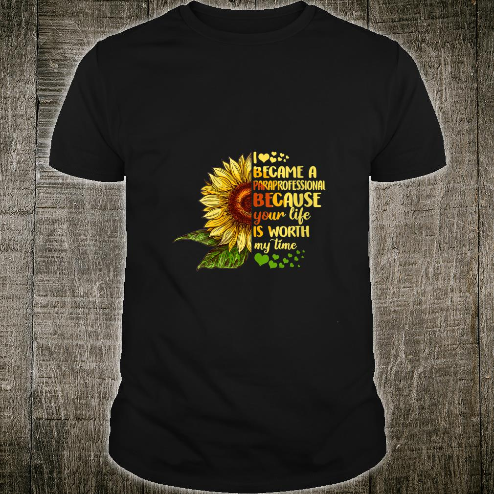 I Became Paraprofessional Costume Back To School Shirt