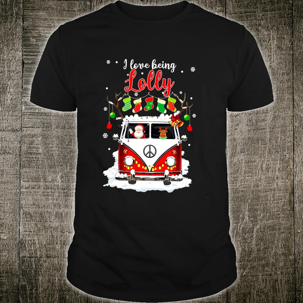 I Love Being Lolly Reindeer Christmas Shirt