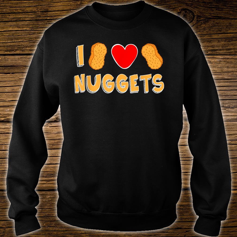I Love Nuggets Cute Chicken Nug Nugget Boys Girls Shirt sweater