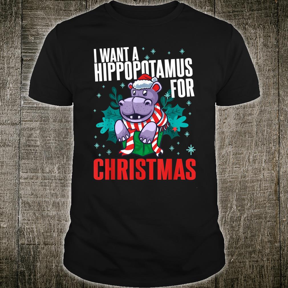 I Want A Hippopotamus For Christmas Xmas Hippo Cute Shirt