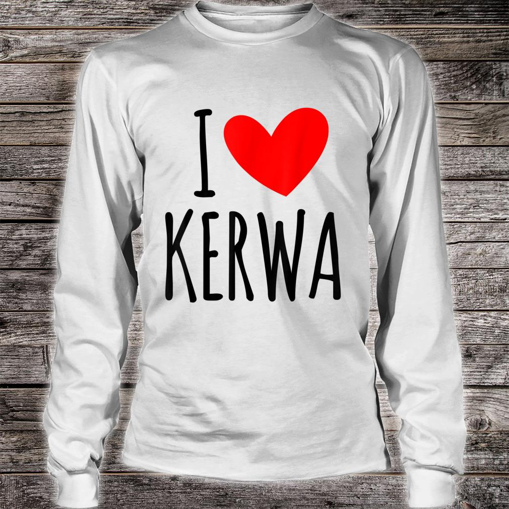 I love Kerwa Volksfest Rummel Kirbe Volksfest Jahrmarkt Shirt long sleeved