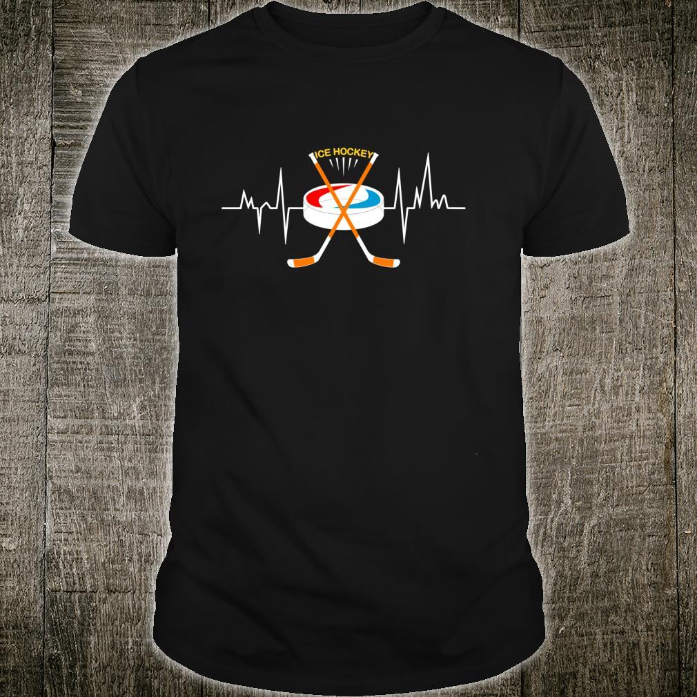 Ice Hockey Heartbeat Love Ice Hockey Shirt