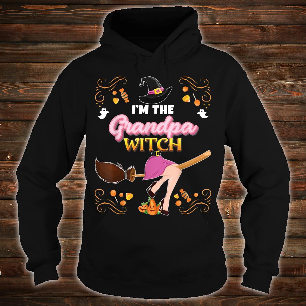 I'm The Grandpa Witch Broom Candy Pumpkin Family Halloween Shirt hoodie