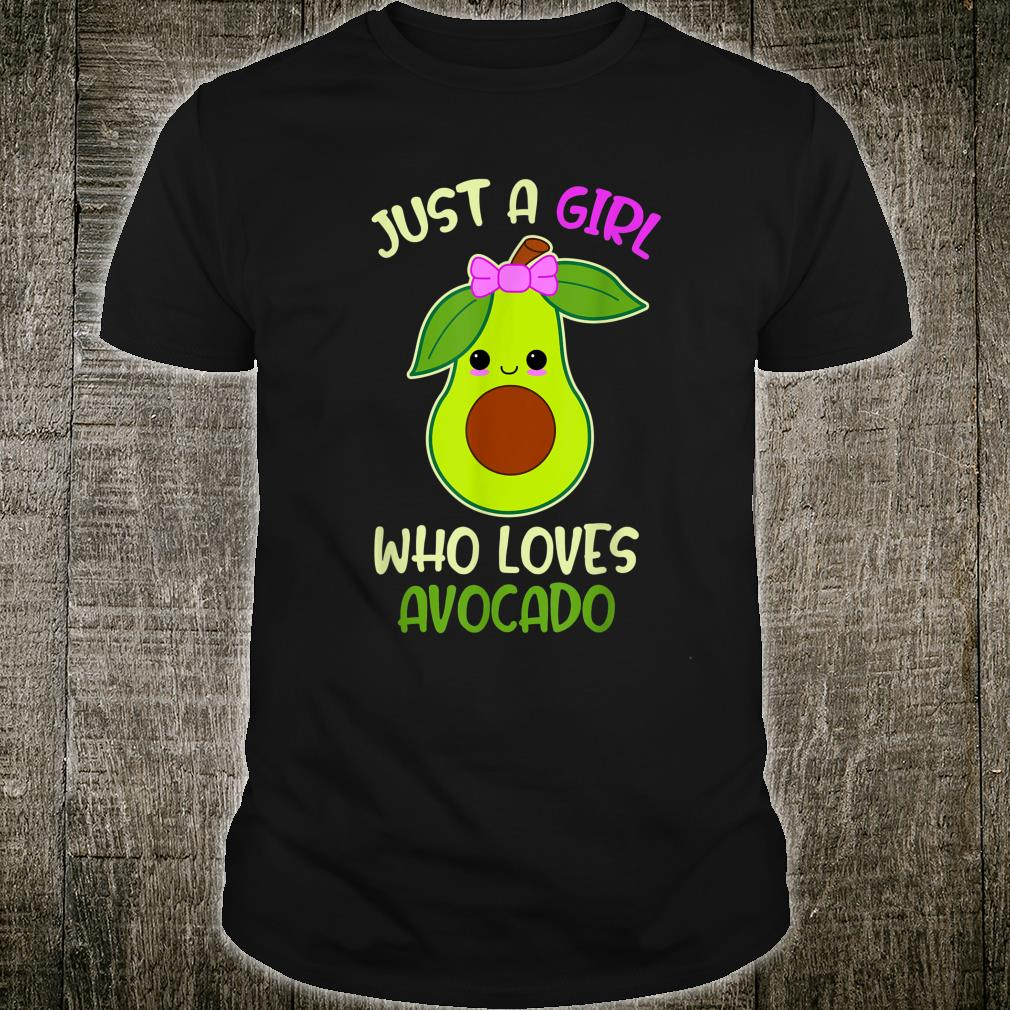 Just A Girl Who Loves Avocado Cute Shirt