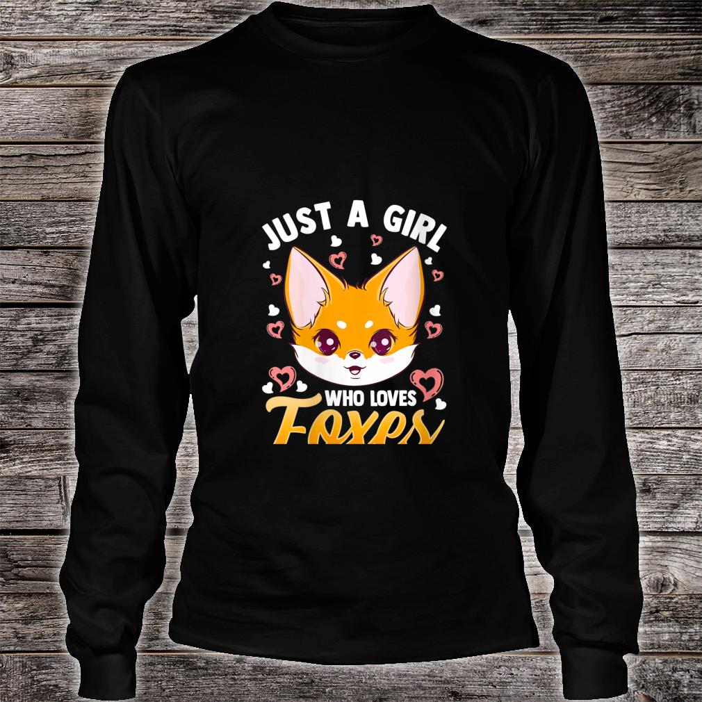 Just A Girl Who Loves Foxes Girls Cute Fox Mom Shirt long sleeved