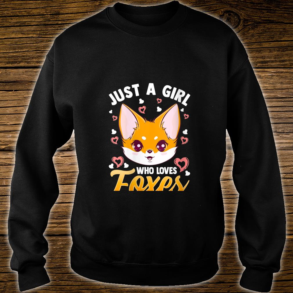 Just A Girl Who Loves Foxes Girls Cute Fox Mom Shirt sweater