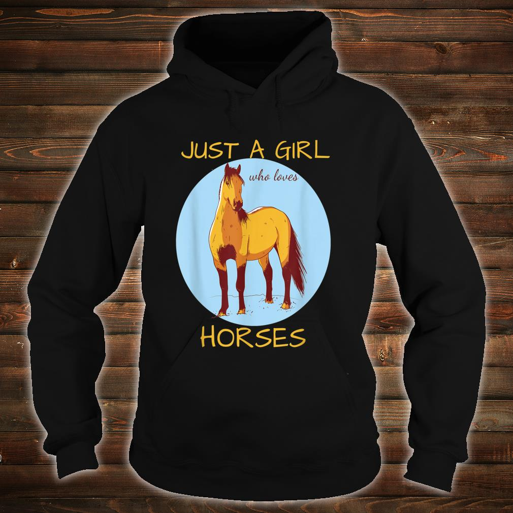 Just A Girl Who Loves Horses Cute Horse Shirt hoodie