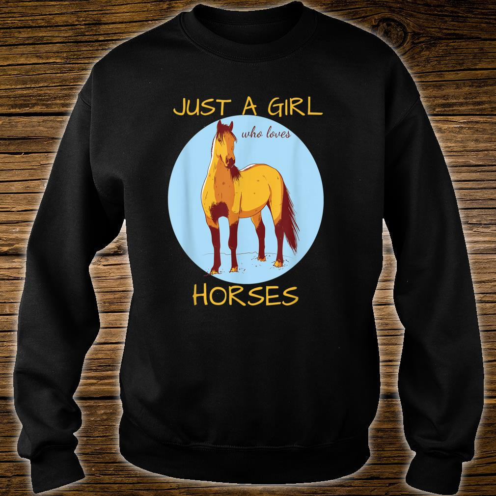 Just A Girl Who Loves Horses Cute Horse Shirt sweater