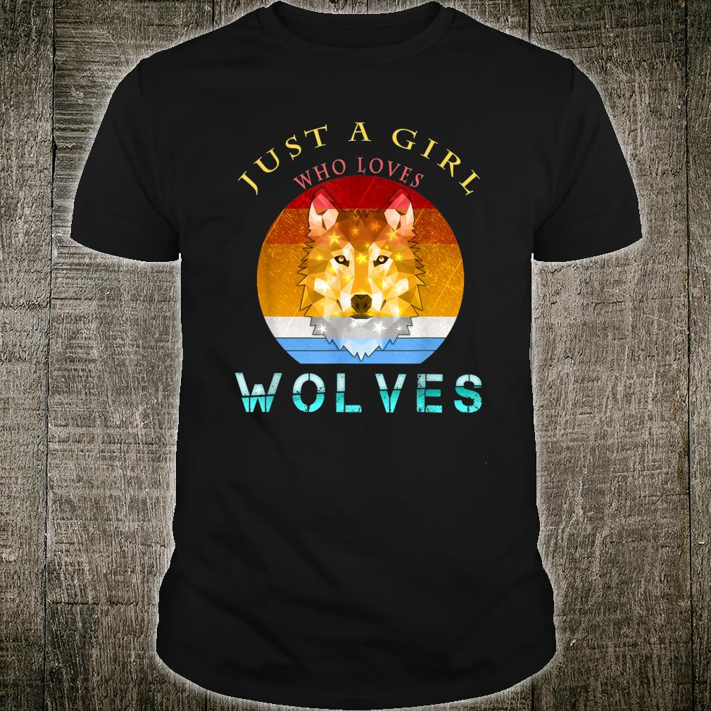 Just a Girl Who Loves wolves Vintage Watercolor Shirt