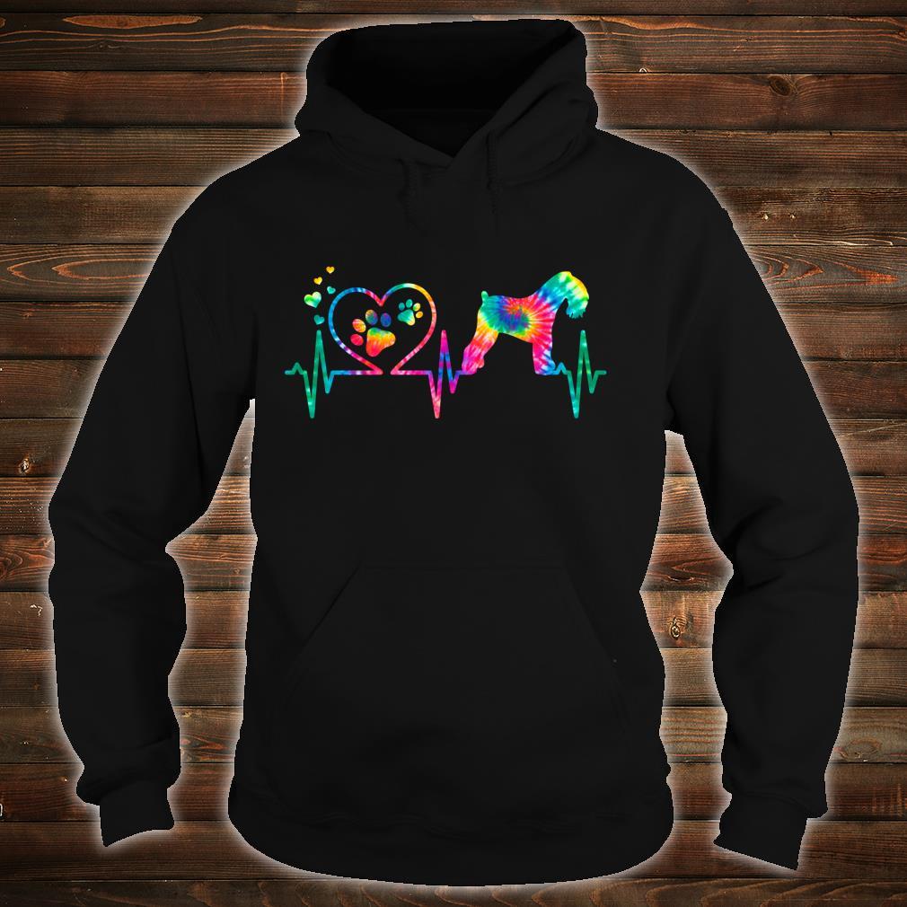 Kerry Blue Terrier Mom Dad Heartbeat Tie Dye Dog Shirt hoodie