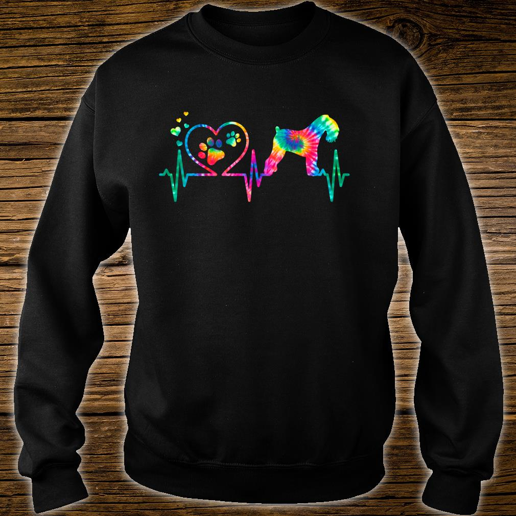 Kerry Blue Terrier Mom Dad Heartbeat Tie Dye Dog Shirt sweater