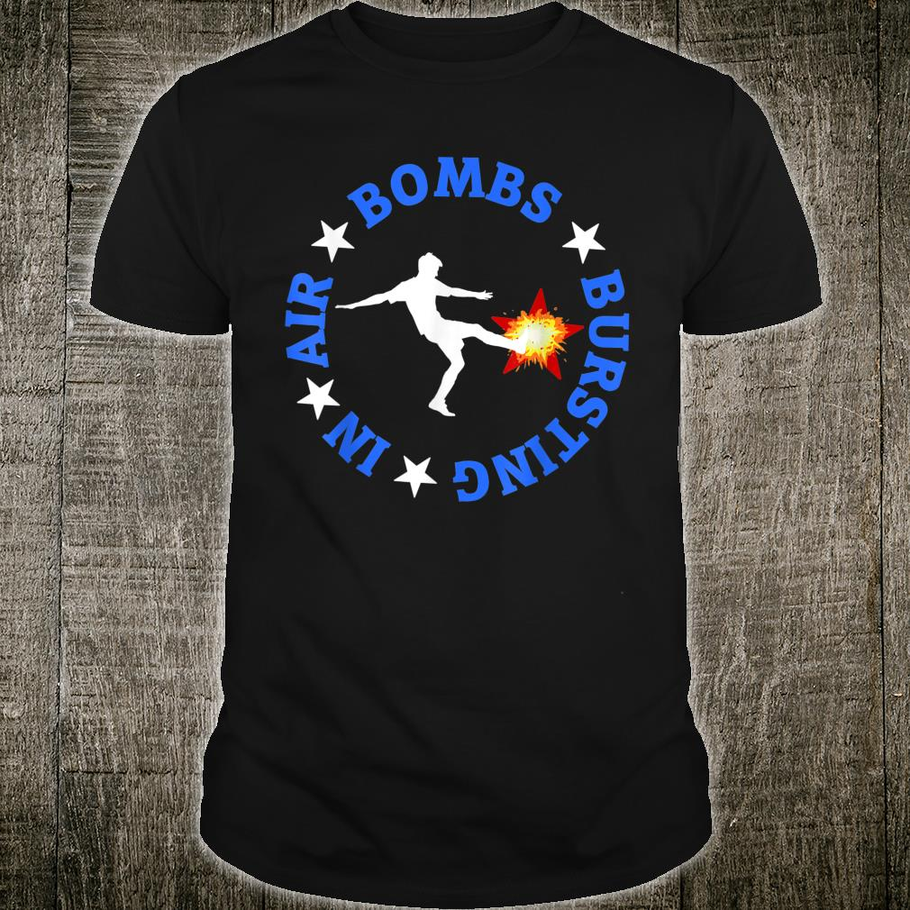 Kicker Punter Football Bombs Bursting In Air Sports Shirt