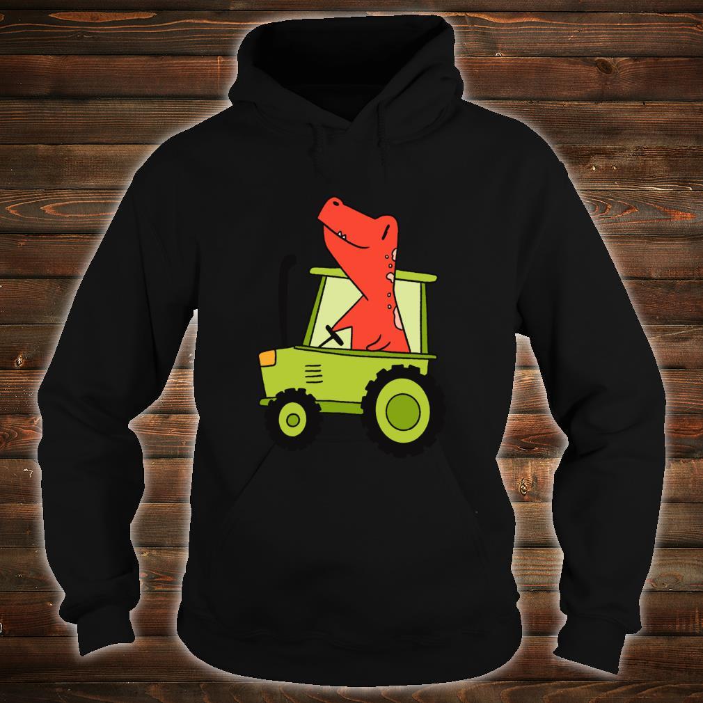 Kids Dinosaur Green Tractor T Rex Truck Driver Farmer Shirt hoodie