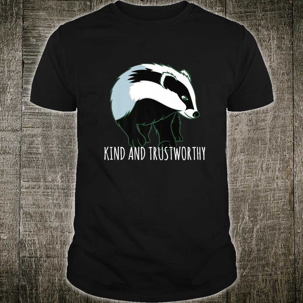 Kind And Trustworthy Full Of Hearts Honey Badger Art Shirt