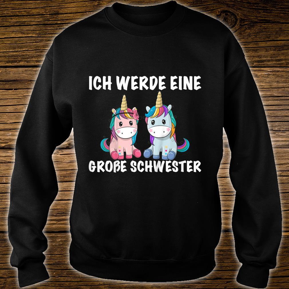 Kinder Bald große Schwester Ich werde eine große Schwester süß Kind Shirt sweater