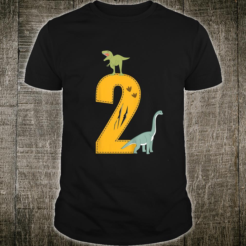 Kinder Geburtstag 2 Jahre Dinosaurier Dino Shirt