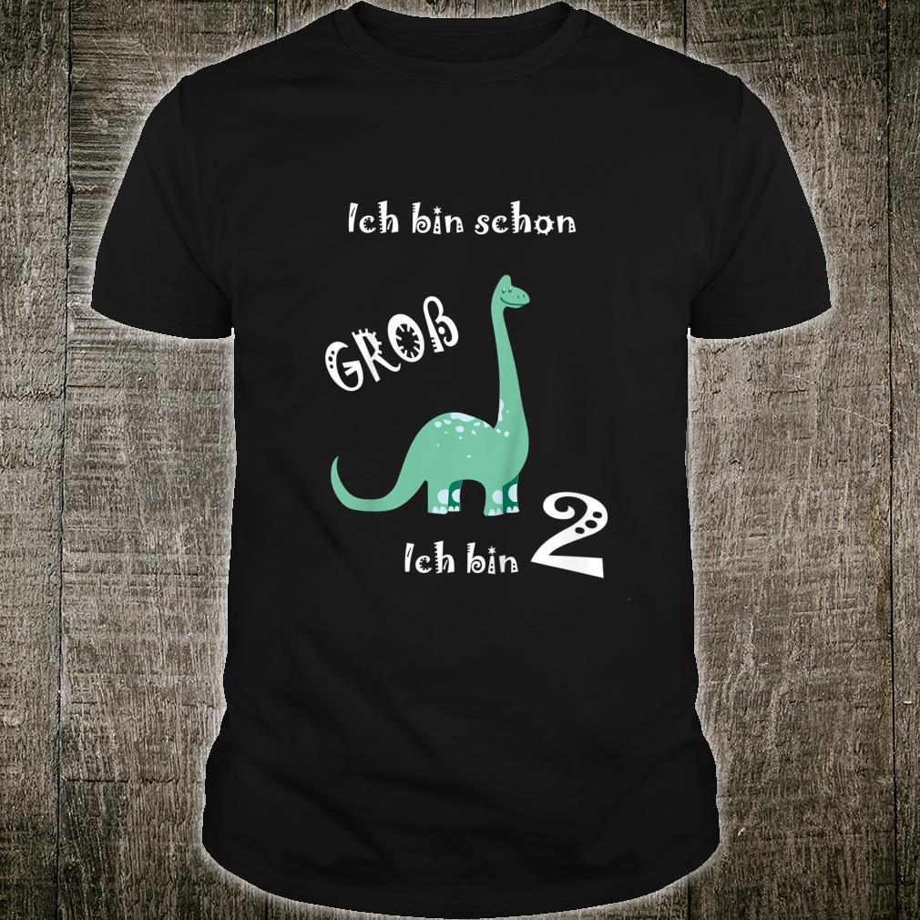 Kinder Ich bin schon groß Ich bin 2 Dino Kinder Geburtstag Shirt