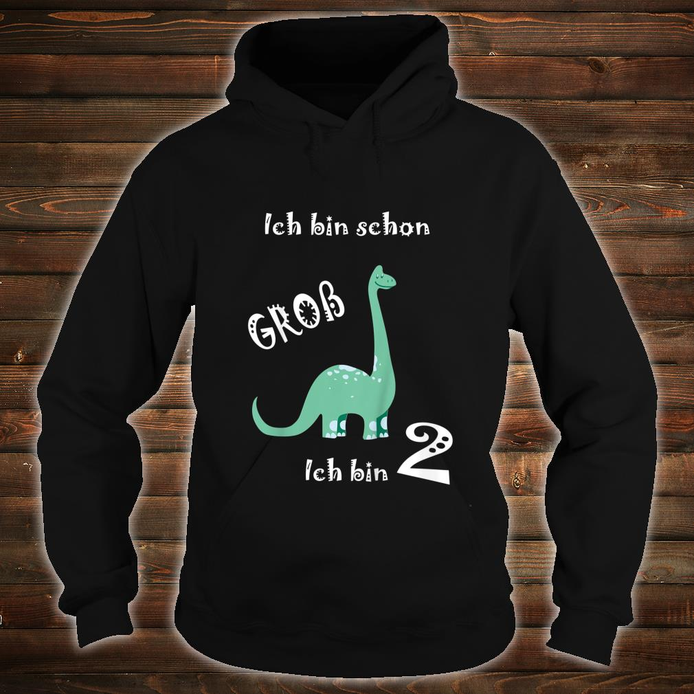 Kinder Ich bin schon groß Ich bin 2 Dino Kinder Geburtstag Shirt hoodie