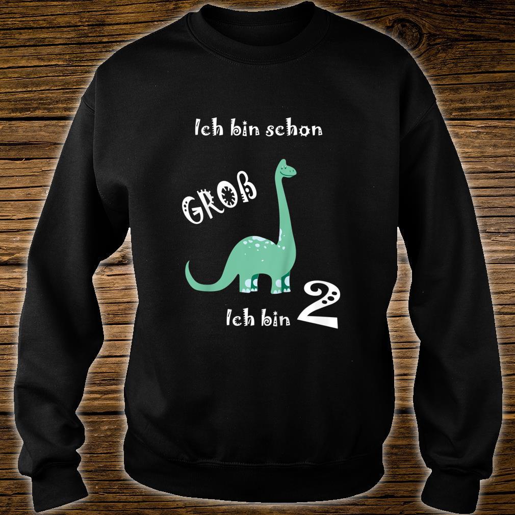 Kinder Ich bin schon groß Ich bin 2 Dino Kinder Geburtstag Shirt sweater