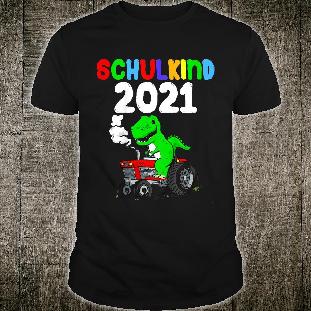 Kinder Schulkind 2021 Geschenk TRex Dino Dinosaurier Einschulung Shirt