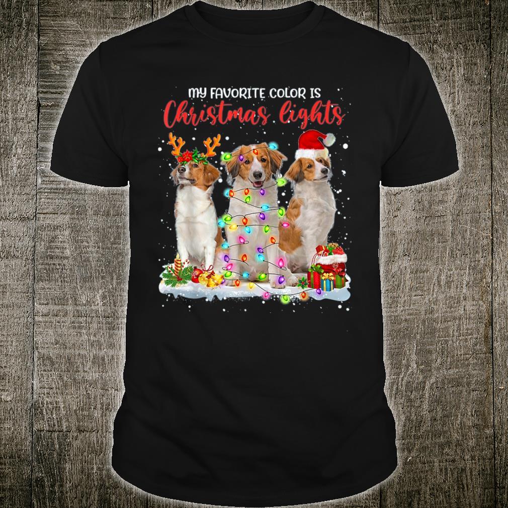 Kooikerhondje My Favorite Color Is Christmas Lights Xmas Shirt