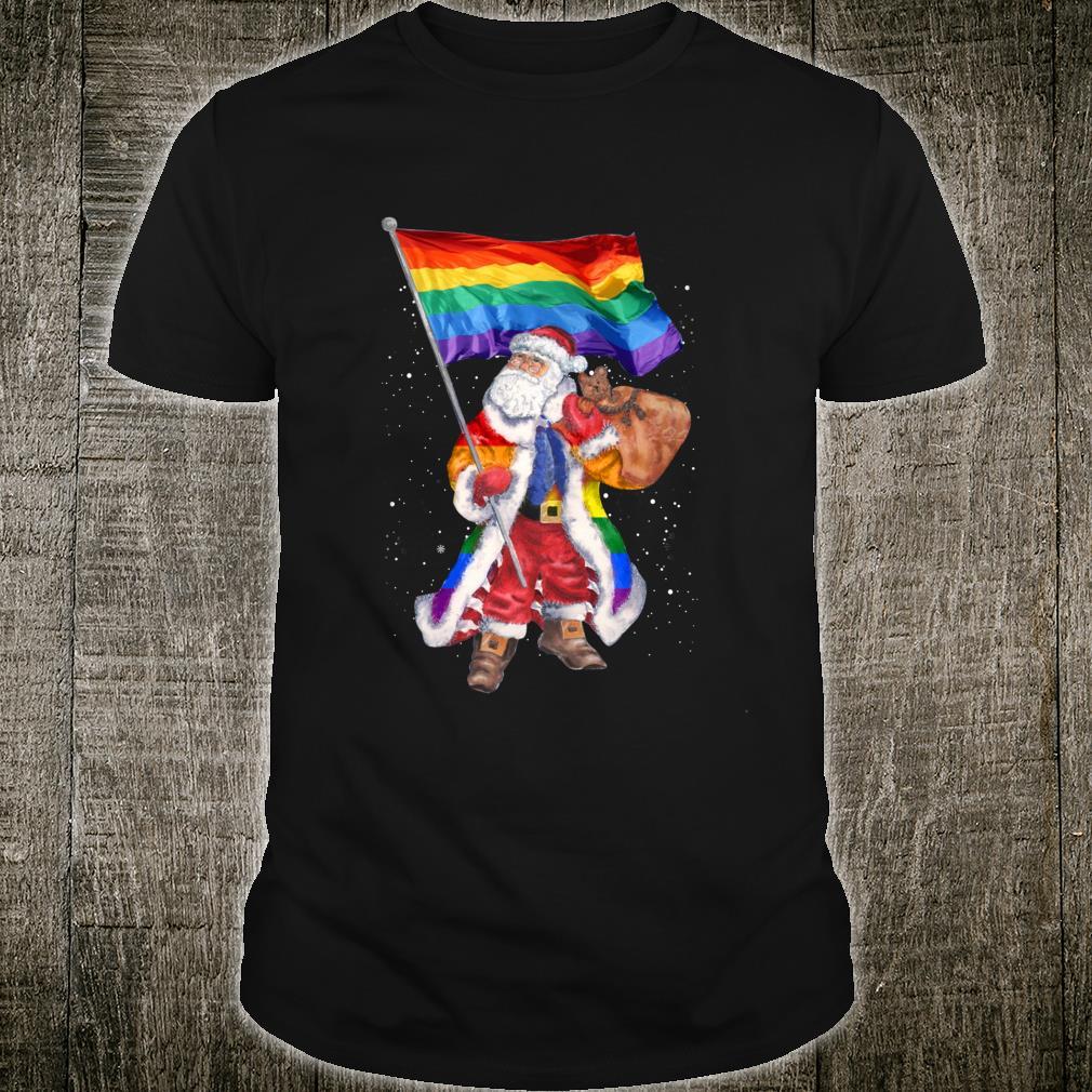 LGBT Santa Christmas Flag Santa LGBT Shirt