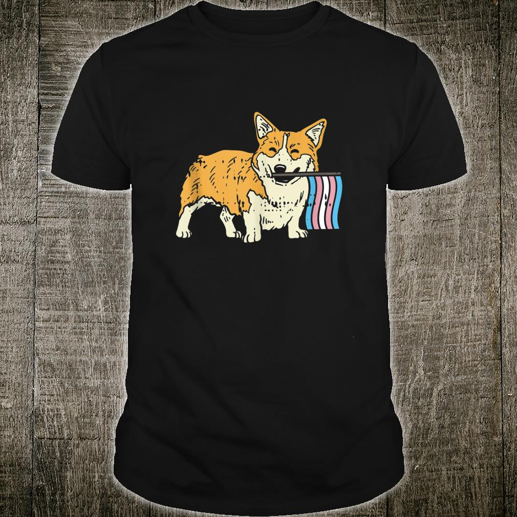 LGBT Welsh Corgi Cute Transgender Flag Color Dog Shirt