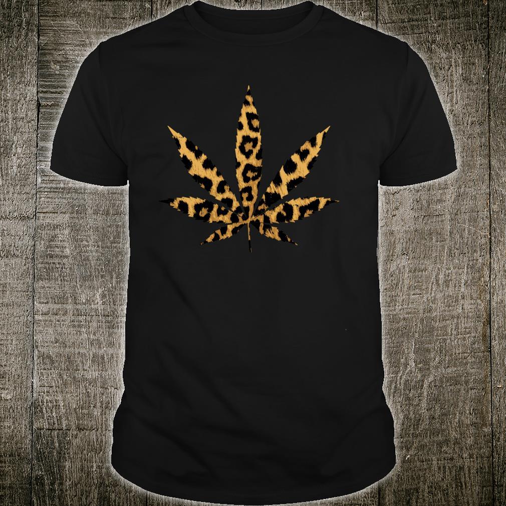Leopard Cheetah Weed Cannabis Marijuana 420 THC Stoner Shirt