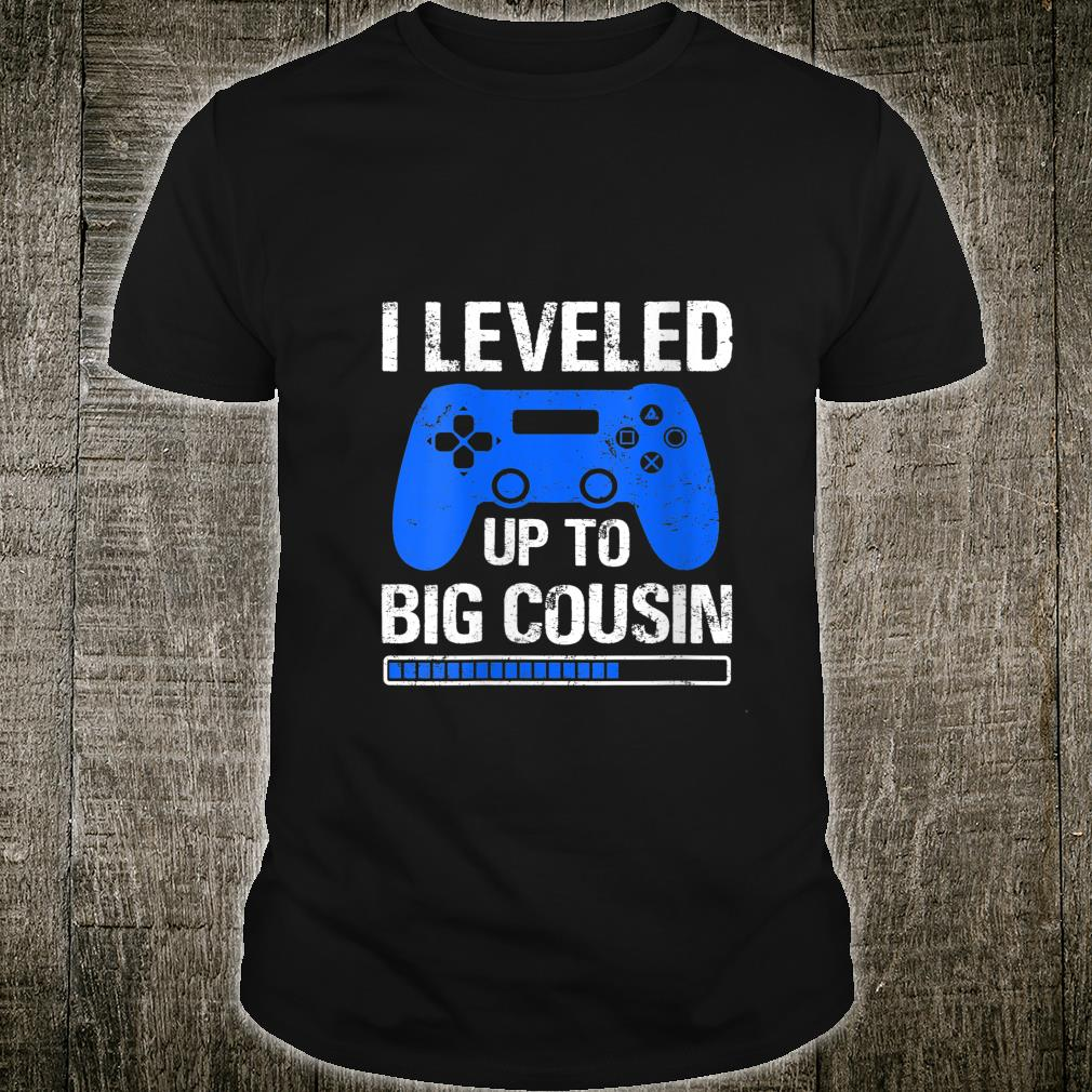 Level Up To Big Cousin Pregnancy Announcement 2021 Shirt