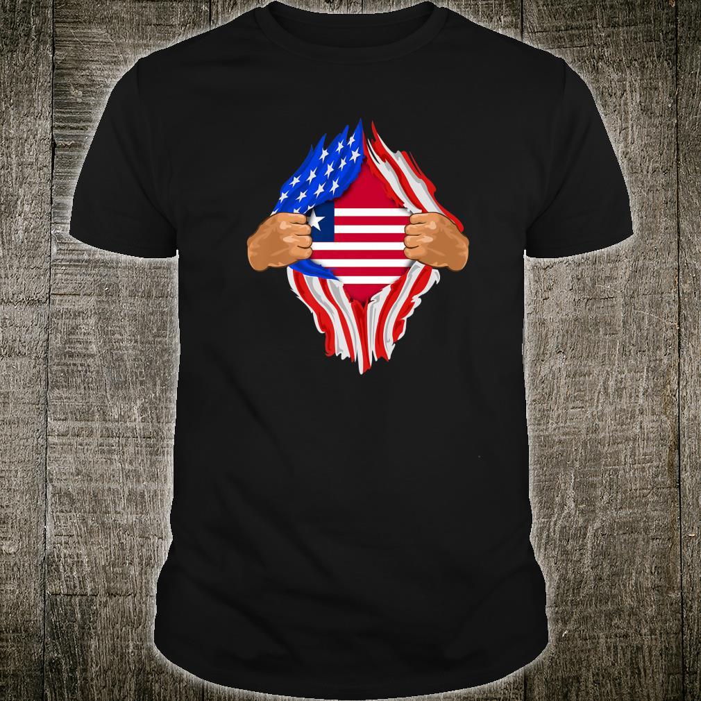 Liberian Blood Inside Me Liberia Flag Shirt