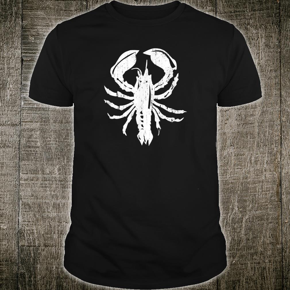 Lobster Crabber Beach Ocean Boating Retro Vintage Shirt