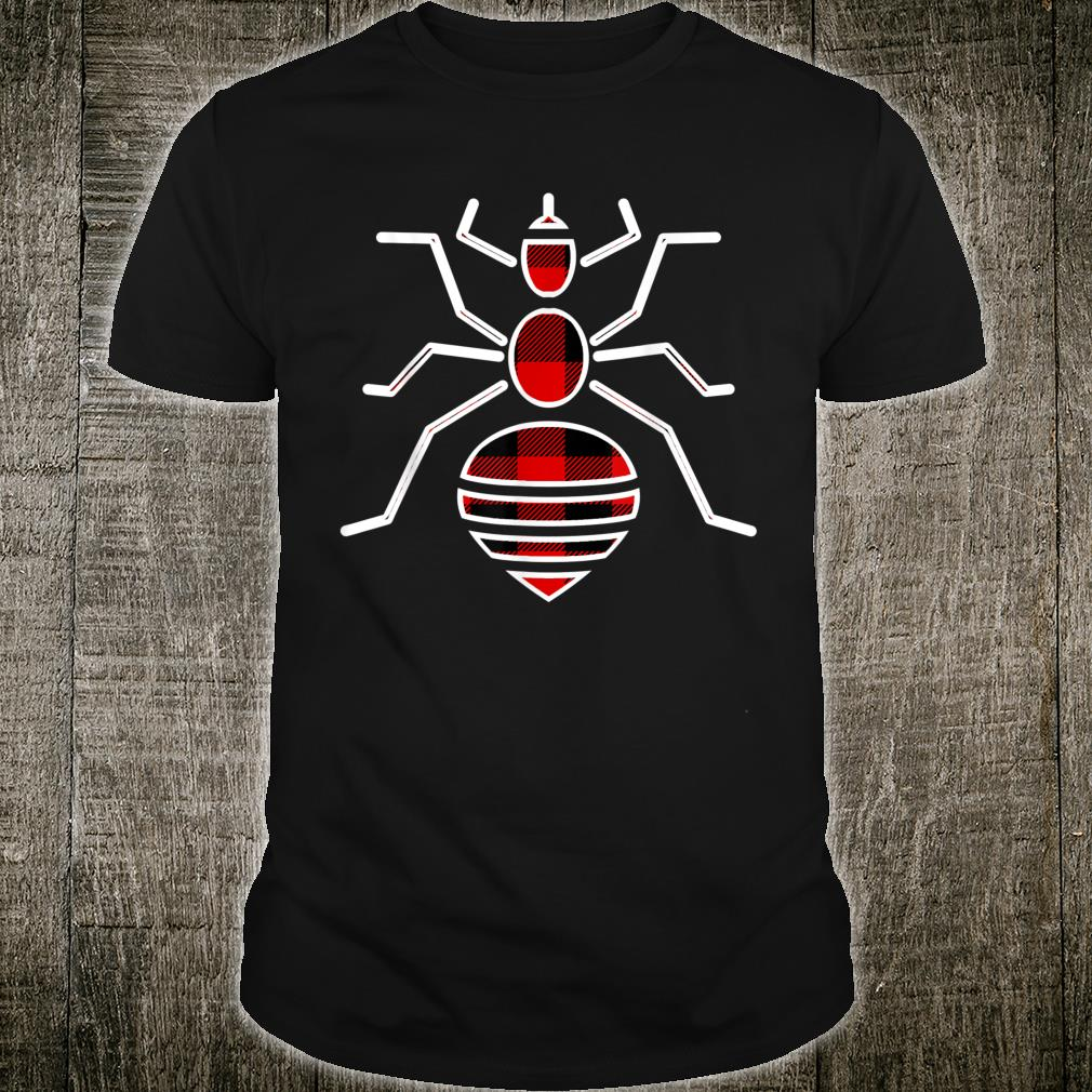 Louse Red Buffalo Plaid Insect Lice Matching PJ Family Shirt
