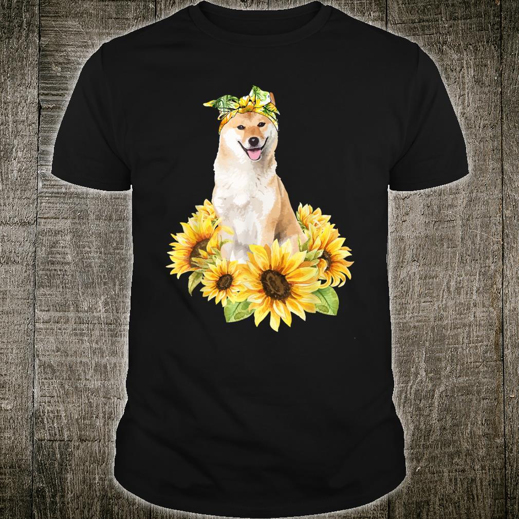 Love Akita Inu Sunflower For Dog Shirt