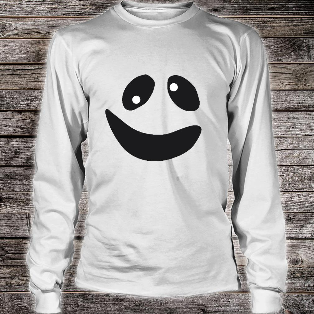 Lustiges GeistGesichtsKostümShirt für Halloween Shirt long sleeved