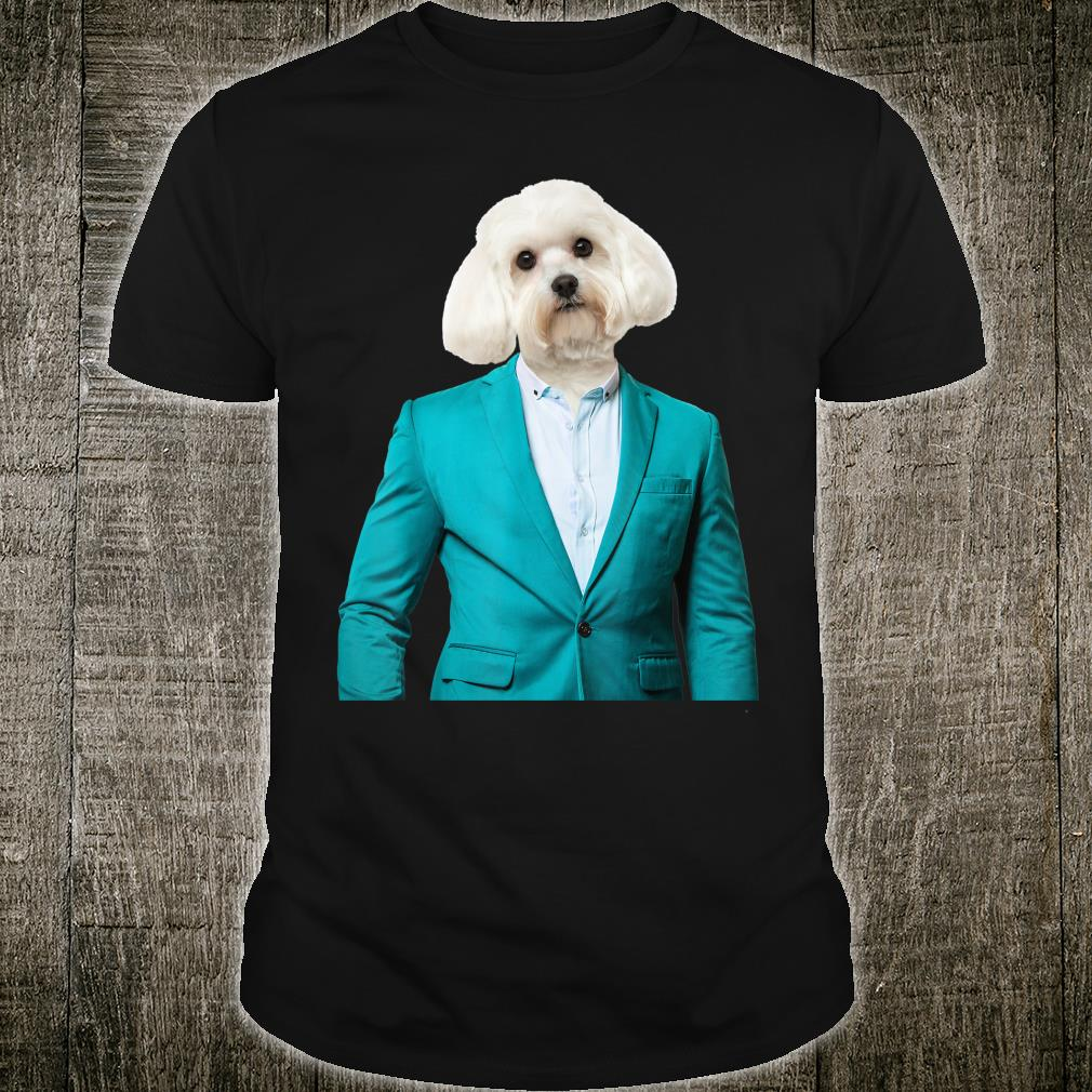 Maltese in Suit for Dogs Shirt