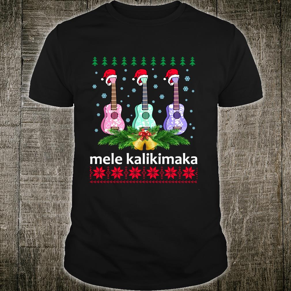 Mele Kalikimaka Ukulele Guitar Hawaii Christmas Shirt