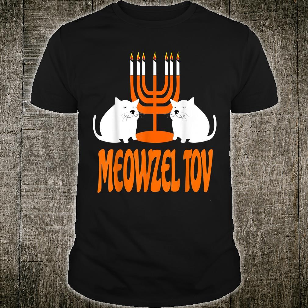 Meowzel Tov Hanukkah Jewish Christmas Cat Shirt